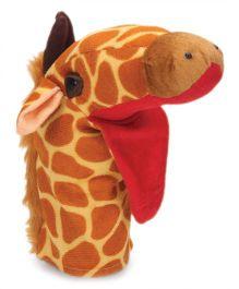 IR Hand Puppet Giraffe Brown / 11 Inches