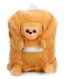 IR Monkey School Bag Brown - 11 Inches