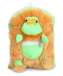 IR Frog School Bag Brown Green - 11 Inches