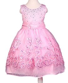 Superfie Gown Dress For Girls - Pink