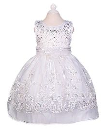 Superfie Gown Dress For Girls - White