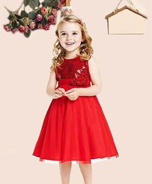 Superfie Sparkling Dress - Red