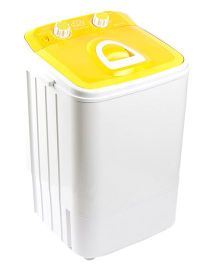 DMR MiniWash Portable Single Tub Semi Automatic Washing Machine - Yellow