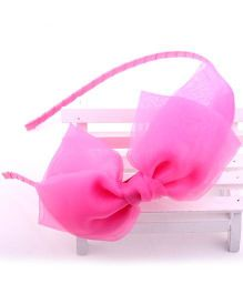 Princess Cart Ribbon Knot Hairband - Pink