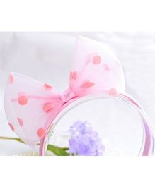 Princess Cart Ribbon Bowknot Hairband - Pink