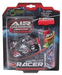 Air Chargers Racer Car With Pump - White