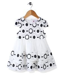 Adores Round Print Dress - Black & White