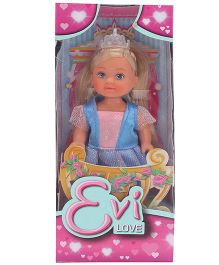 Evi Love Little Princess Doll Blue - 12 cm