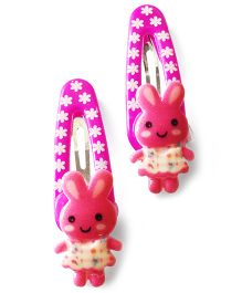Akinos Kids Cute Bunny Baby Snap Clips - Purple