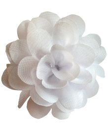 Akinos Kids Chiffon Rose Hair Clip - White