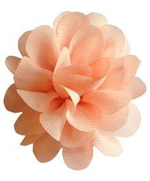 Akinos Kids Chiffon Rose Hair Clip - Peach