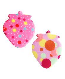 Akinos Kids Strawberry Mini Velcro Clips Set Of 2 - Pink