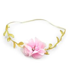 Little Cuddle Floral Bohemian Headband - Pink  & Gold