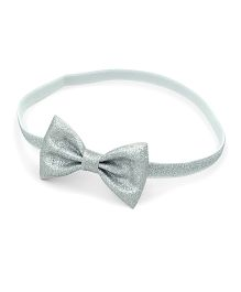 Little Cuddle Bow Headband - Silver