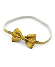 Little Cuddle Bow Headband - Gold