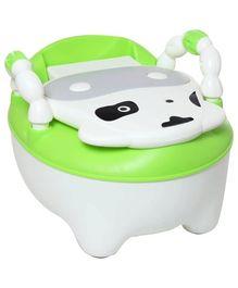 Fab N Funky Baby Potty Panda Pattern White
