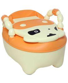 Fab N Funky Baby Potty Panda Pattern Yellow