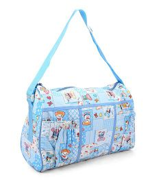 Mee mee Nursery Bag Teddy Print - Blue