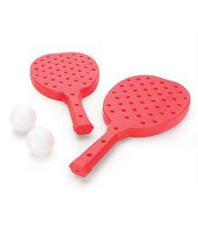 Mansaji Racket Set - Red White