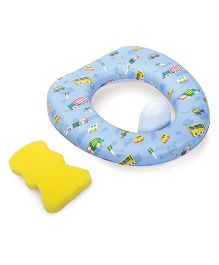 Mee Mee Potty Seat With Detachable Protection Vehicle Print - Blue