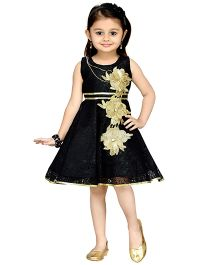 Aarika Girl's Empire Waist Dress - Black