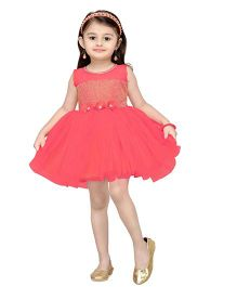 Aarika Girl's Empire Waist Dress - Pink