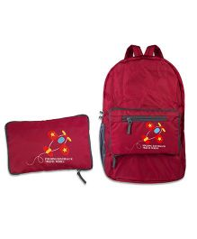 Thought Counts Attractive Backpack With Folder - Red