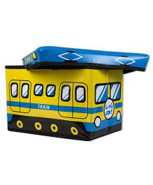 Thought Counts Train Puffy With Toy Box - Yellow & Blue