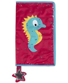 Thought Counts Sea Horse Book Cover - Pink & Blue