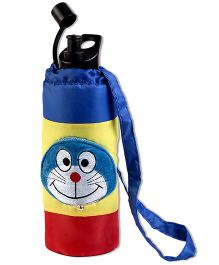 Thought Counts Water Bottle Cover - Blue & Yellow