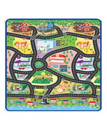 Sunta Heat Transferred Printed Roll Mat City Theme - Multicolor