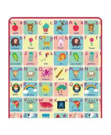 Sunta Heat Transferred Printed Roll Mat Alphabet Theme - Multicolor