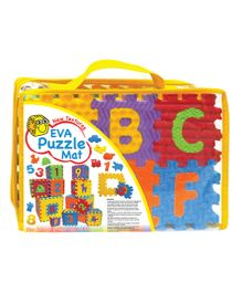 Sunta Number And Alphabets Puzzle Carry Bag Multicolor - 36 Pieces