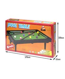 Sunta Pool Table - Multicolor