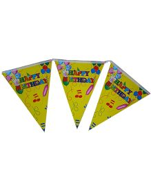 Shopaparty Happy Birthday Balloons Banner - Yellow
