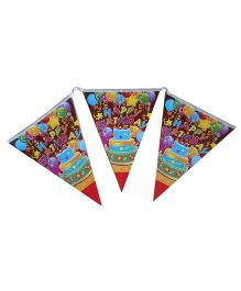 Shopaparty Happy Birthday Cake Print Banner - Multicolor