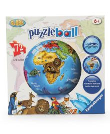 Ravensburger World Globe 3D Ball Puzzle Set - 72 Pieces