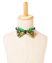 Brown Bows Printed Cotton Bow Tie - Multi Color