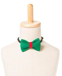 Brown Bows Cotton Butterfly Bow Tie - Green