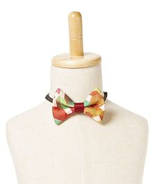 Brown Bows Satin Butterfly Bow Tie - Multi Color