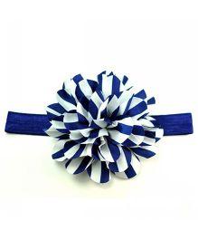 Bellazaara Newborn Zebra Striped Baby Headband  - Navy Blue