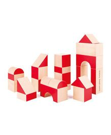 Hape Anniversary Special Blocks - Red And Beige