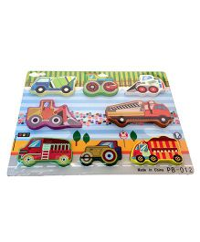 Mamaboo Vehicles Wooden Puzzle Multicolor - 8 Pieces