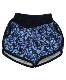 Earth Conscious Organic Cotton Floral Print Shorts - Black