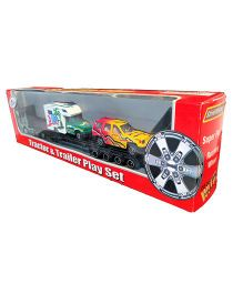 Street Machine Die Cast Tractor And Trailer Set - Multicolor