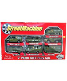 Street Machine Army Cars Green - 7 Pieces