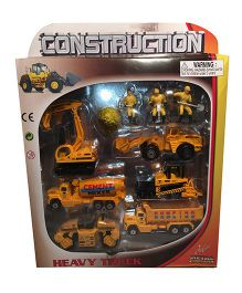 Street Machine Construction Playset Yellow - 10 Pieces