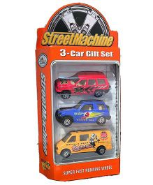 Street Machine Car Gift Set Red Blue Yellow - Pack Of 3