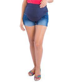 Morph Maternity High Belly Denim Shorts - Blue