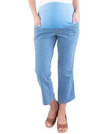 Morph Maternity Denim Capri - Light Blue